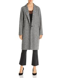 7 For All Mankind Mixed Pattern Long Coat - Black