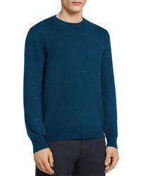 Ermenegildo Zegna Ermenegildo Premium Cashmere Crewneck Sweatshirt - Blue