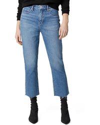 Jag Jeans Stella High Rise Straight Leg Jeans In Hudson Blue