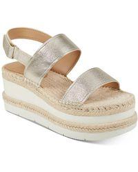 Marc Fisher Women's Gallia Espadrille Platform Sandals - Metallic