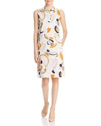 Lafayette 148 New York - Rudy Sleeveless Lyrical Curves Printed Dress - Lyst