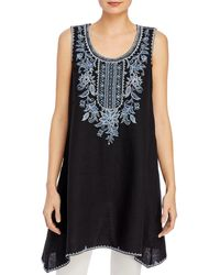 Johnny Was - Maike Linen Trapeze Tunic - Lyst