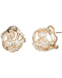 Carolee - Caged Cultured Freshwater Pearl Stud Earrings - Lyst