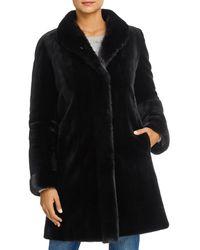 Maximilian Reversible Mink Fur Coat - Black