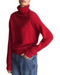 Reiss Nova Knitted Roll Neck Sweater - Red