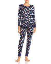 Jane & Bleecker New York Printed Pajama Set - Blue
