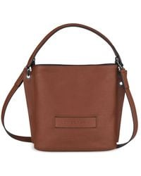 Longchamp 3d Small Leather Hobo - Brown