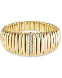 Hulchi Belluni - 18k Yellow Gold Tresore Diamond Graduated Banded Bracelet - Lyst