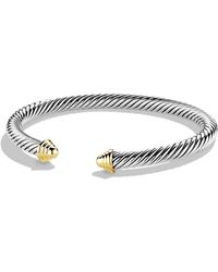 David Yurman Cable Classics Bracelet With 14k Gold - Metallic