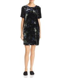 Eileen Fisher - Printed Velvet Shift Dress - Lyst