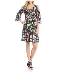 Karen Kane - Cold-shoulder Floral Dress - Lyst