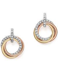 KC Designs - 14k Gold Diamond Triple Circle Earrings - Lyst