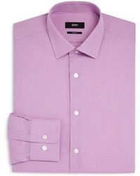 BOSS - Marley Micro-dobby Dotted Regular Fit Dress Shirt - Lyst