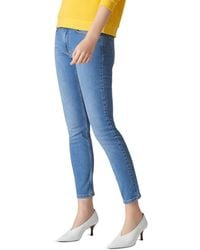 Whistles - Mid Rise Skinny Jeans In Light Wash - Lyst