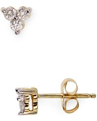 Adina Reyter - Diamond Cluster Stud Earrings - Lyst