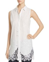 T Tahari - Sabina Embroidered Lace Tunic Top - Lyst