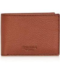 Shinola Super - Slim Leather Bifold Wallet - Brown