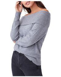 PAIGE Izabella Off - The - Shoulder Jumper - Grey