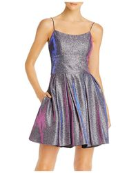 Betsy & Adam Galaxy Glitter Cocktail Dress - Multicolour