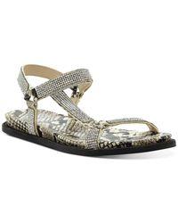Vince Camuto Women's Arabelem Crystal Embellished Flat Sandals - Natural