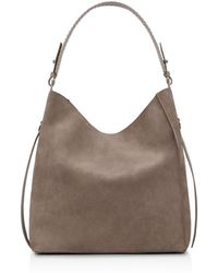 AllSaints - Billie North South Leather Tote - Lyst
