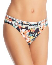 Lucky Brand Wild Flower Hipster Bikini Bottom - Blue