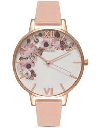 Olivia Burton Signature Florals Watch - Pink