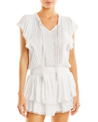 Surf Gypsy Lace And Crocheted Trim Swim Cover - Up - White