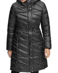 Marc New York Brookdale Velvet Trim Puffer Coat - Black