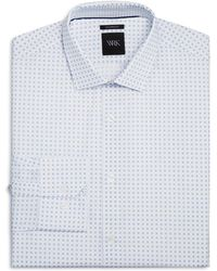 W.r.k. | Micro Dot Square Slim Fit Dress Shirt | Lyst