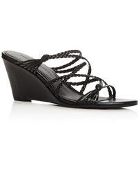 Sigerson Morrison Women's Maddie Wedge Slide Sandals - Multicolour