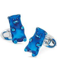 Jan Leslie Sterling Silver Gummy Bear Cufflinks - Blue