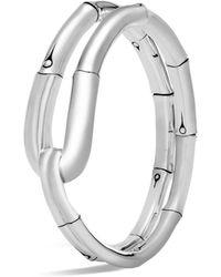 John Hardy Sterling Silver Bamboo Flex Cuff - Metallic