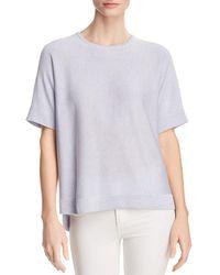 Eileen Fisher - Lightweight Short-sleeve Sweater - Lyst