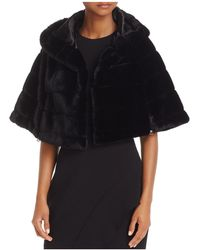 Betsey Johnson - Hooded Faux-fur Capelet - Lyst