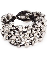 Uno De 50 Beaded Toggle Bracelet - Metallic