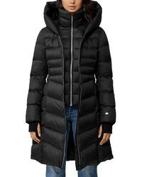SOIA & KYO Roux Down Puffer Coat - Black