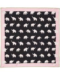 Kate Spade Elephant Silk Bandana - Black