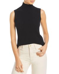 C By Bloomingdale's Sleeveless Cashmere Jumper - Black