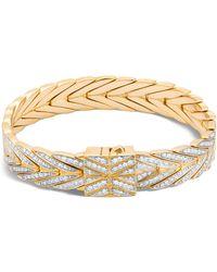 John Hardy - 18k Yellow Gold Modern Chain Bracelet With Diamonds - Lyst