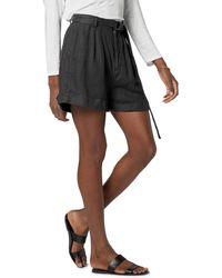 Joie Dixon Linen Shorts - Black