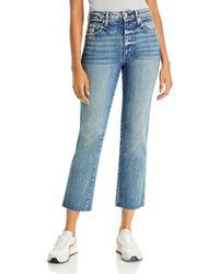 AMO Chloe Cropped Jeans In Kismet - Blue