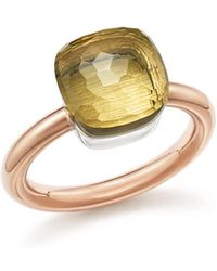 Pomellato - Nudo Classic Ring With Lemon Quartz In 18k Rose And White Gold - Lyst