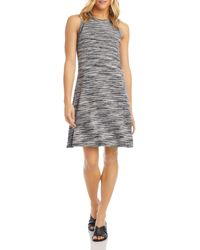 Karen Kane Space - Dyed Fit - And - Flare Dress - Black