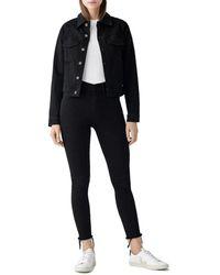 DL1961 Jane Fitted Denim Jacket In Yin - Black