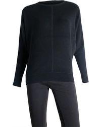 Sioni Crewneck Pullover Jumper - Black