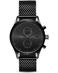 MVMT - Voyager Black Mesh Bracelet Watch - Lyst