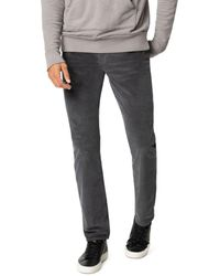 Joe's Jeans The Brixton Slim Straight Corduroy Trousers In Asphalt - Gray