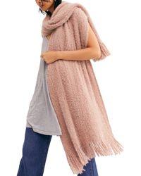 Free People Whisper Fringe Blanket Scarf - Pink