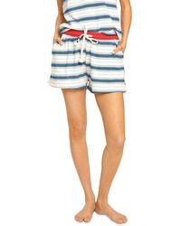 Sol Angeles Retro Striped Shorts - Natural